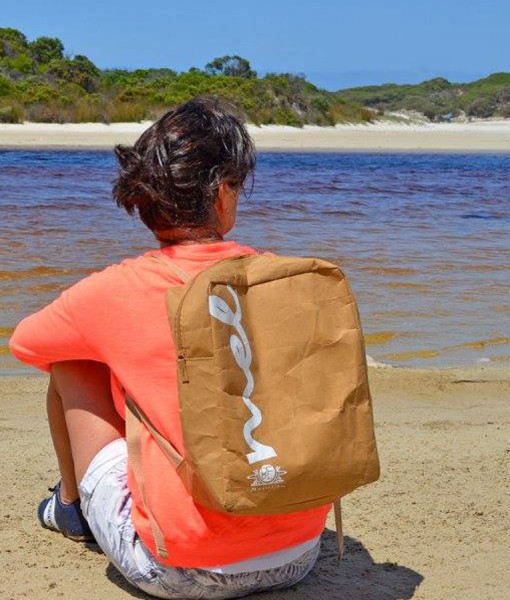 Melbourne Pride backpack in washable kraft paper fabric