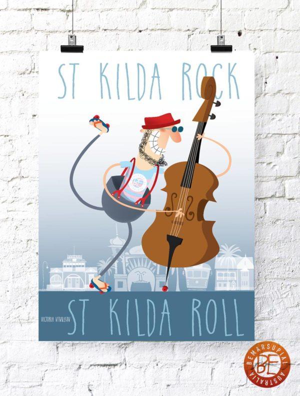 St Kilda Festival inspired print