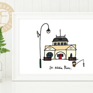 St Kilda Pier print - 3 sizes available