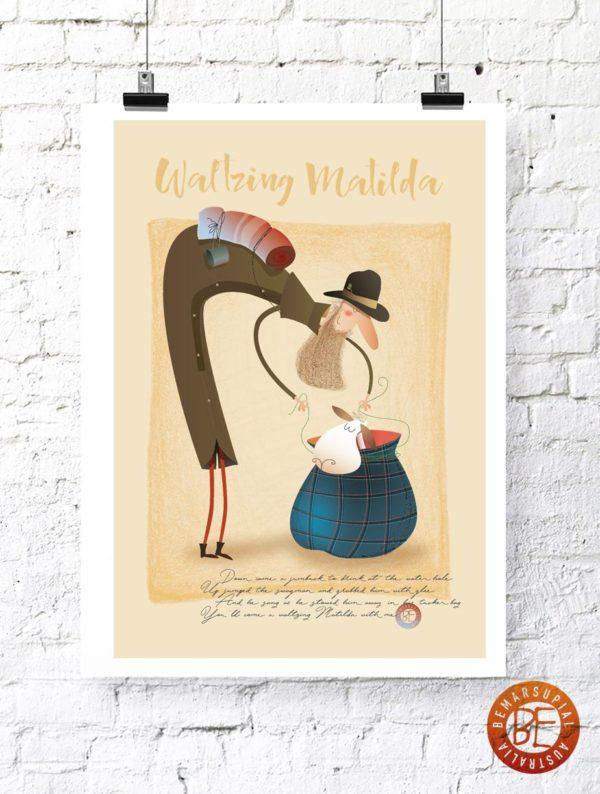 Waltzing Matilda print
