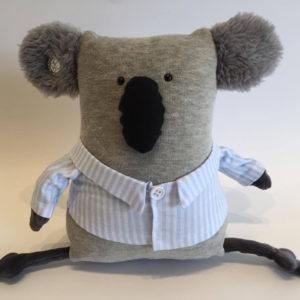 koala with blue pyjamas by BeMarsupial design