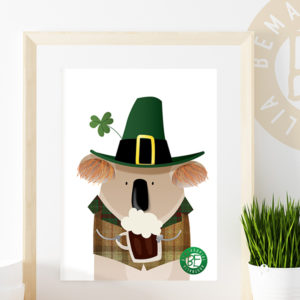 art print Irish koala