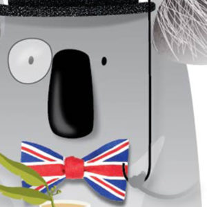Detalle de la lámina de koala inglés