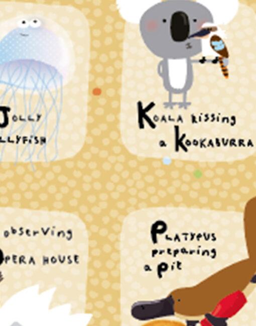 Detalle de la lámina Alfabeto Australiano