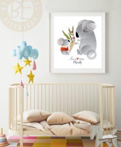 love you mum koala print