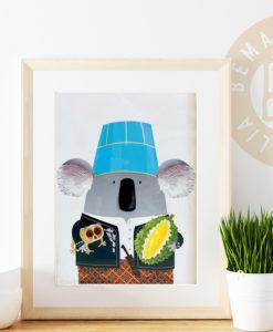 Indonesian koala print