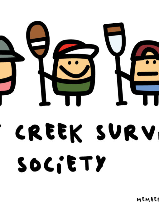 "Print ""Shit Creek Survivor Society"" detail"