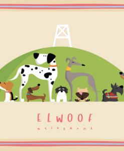 Elwoof tea towel - Point Ormond