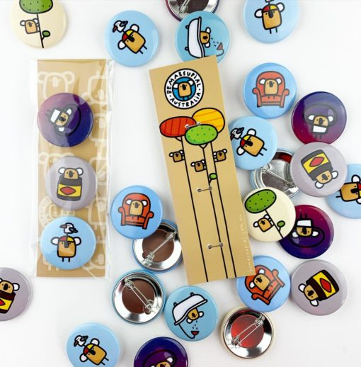 australiana pin buttons