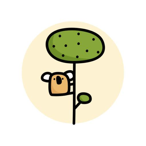 button pin koala tree