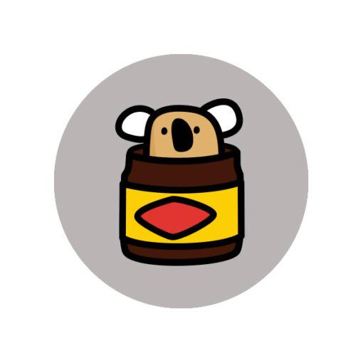 button pin koala vegemite
