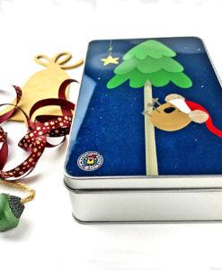 Santa Koalaus Christmas tin box