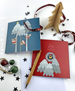 Christmas card Stockies - koalas and trees