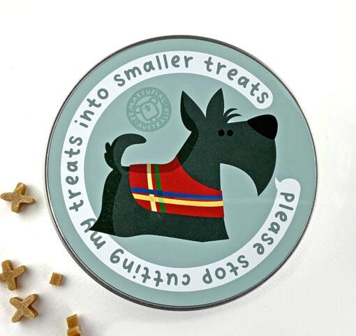 terrier dog treats tin box