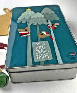 three koalas Christmas tin box