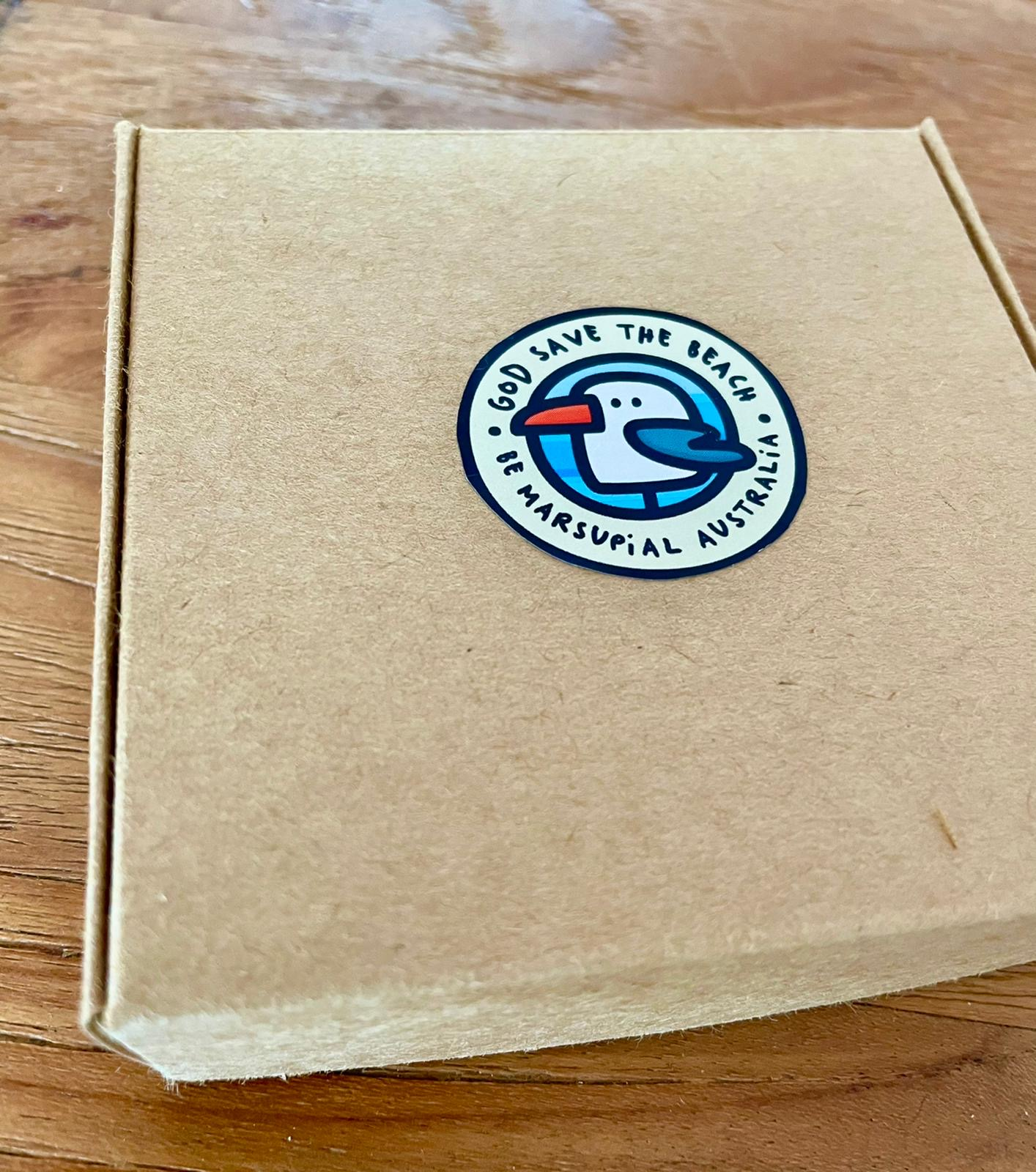 box with 6 coasters