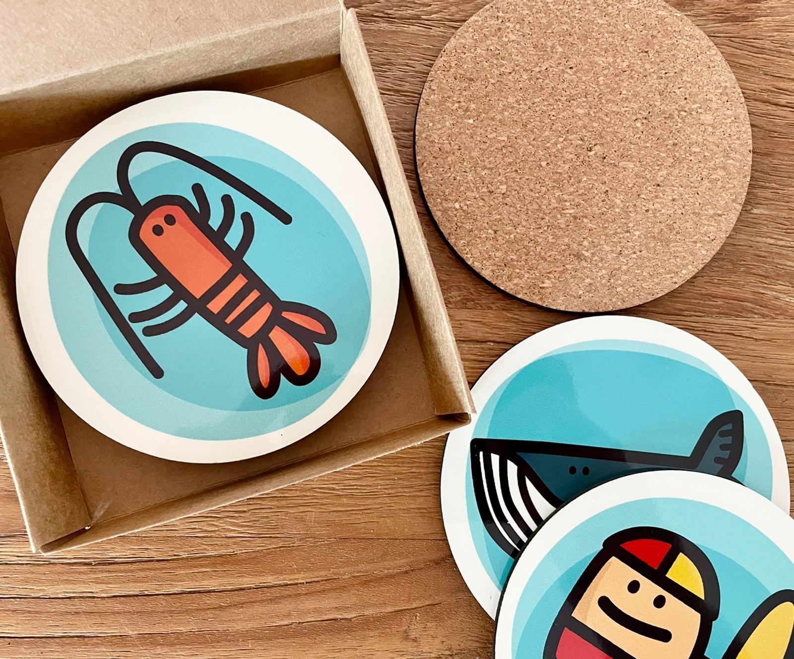 Set of coast Australian design