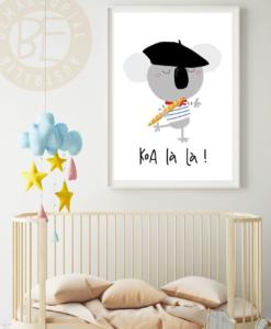 koala-la print for nursery