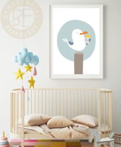 seagull chips nursery print
