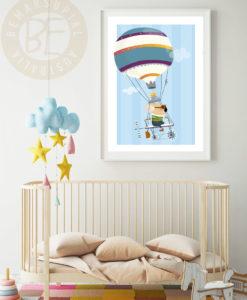 sky rider koala print for nursery