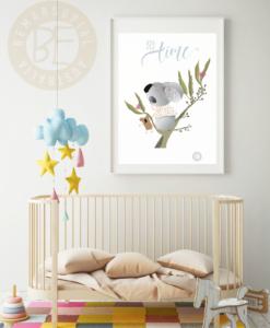 bed time nursery print