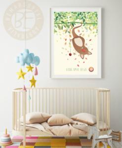 nursery print upside down under
